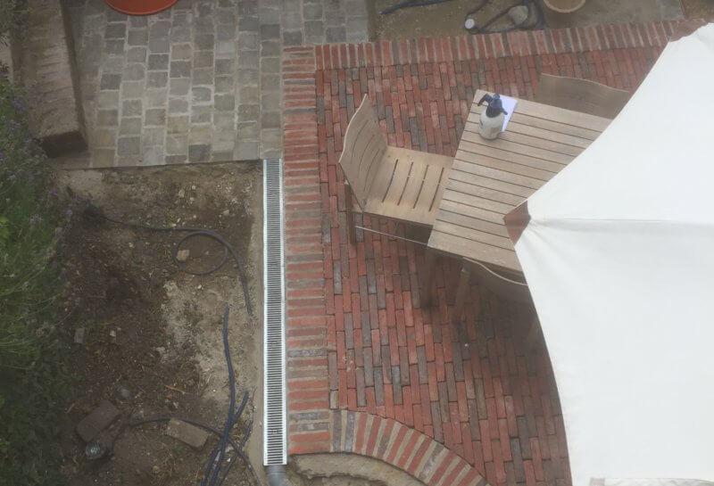Terrasse en briques